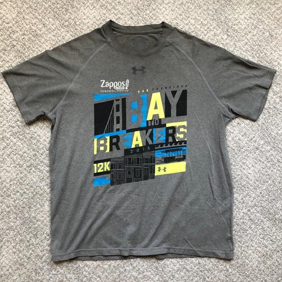 2015 San Francisco Bay to Breakers Gray T-Shirt.